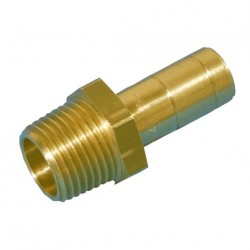 "raccord - adaptateur écrou laiton 1/2"" mâle - diam.15mm mâle"