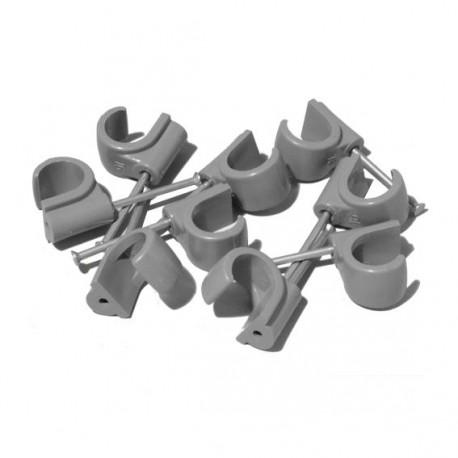 attache pour tuyau diam. 15mm - (paquet de 50 unités)