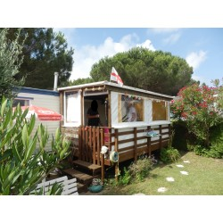 terrasse couverte & fermée mobil home en bois autoclave