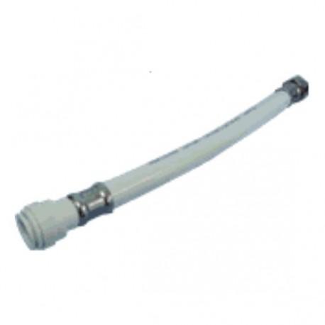 Flexible PVC blanc pour robinet mélangeur 15mm, long.300mm, mâle 12mm