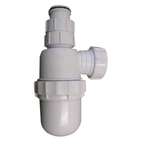 Syphon pour lavabo & évier avec entrée ajustable 75mmx32mm