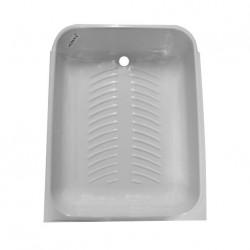 Intérieur receveur de douche avec siège couleur blanc