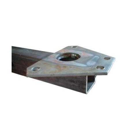 Timon de remorquage avec support - 1,4m de long, carré 60x60mm