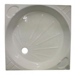 Intérieur bac à douche mobilhome COSALT 680x680mm couleur blanc