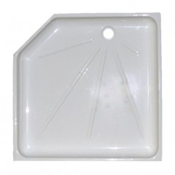 Intérieur bac à douche mobilhome ABI arizona 735x735x530x530x290mm couleur blanc