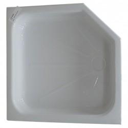 Intérieur bac à douche mobilhome 670x460x460x285mm couleur blanc