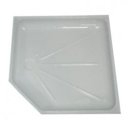 Intérieur bac à douche 685x685mm angle : 80mm couleur blanc