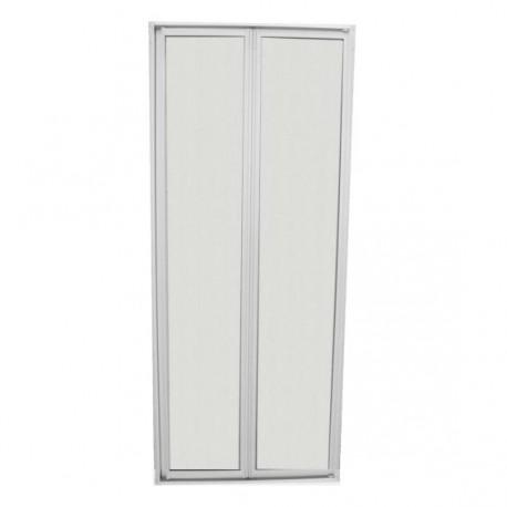 Porte de douche avec encadrement vitre résistante sécurité, charnière universelle 16300x685mm