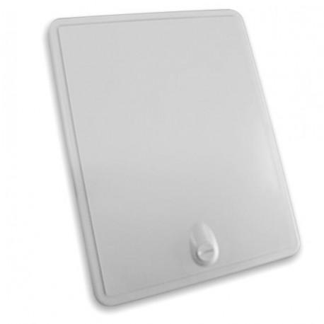 Porte d'acces avec verrou 154x204x12mm couleur blanc