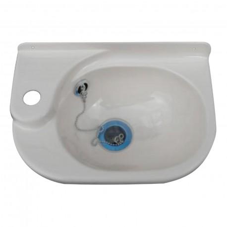 Petit lavabo plastique ATLAS - larg 340mm x profondeur 220mm x H. 110mm couleur blanc