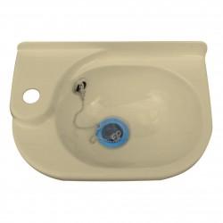 Petit lavabo plastique ATLAS - larg 340mm x profondeur 220mm x H. 110mm couleur crême clair