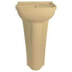 Petit lavabo à colonne avec bonde - 365 x 270mm - couleur pêche