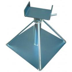 Chandelle en acier zingué support essieu très résistant avec boulon transversal 250 à 360mm - capacité 16000kg