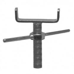 Support avec tige filetée acier zingué - H.150mm U 85mm