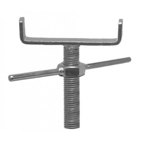 Support avec tige filetée acier zingué - U 120mm