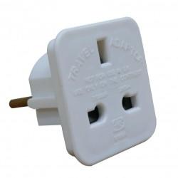 Adaptateur électrique français/anglais couleur blanc