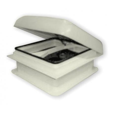 Lanterneau mobilhome complet avec manivelle (aération permanente) dim. trou 350x350x100mm couleur blanc