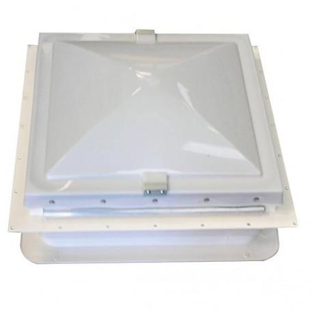 Lanterneau mobilhome complet avec manivelle (standard) - 350x350x100mm couleur blanc