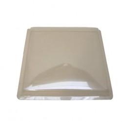 Couvercle de lanterneau en plastique 450x450mm (plat) couleur transparent
