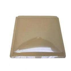 Couvercle de lanterneau en plastique 450x450mm (plat) couleur teintée