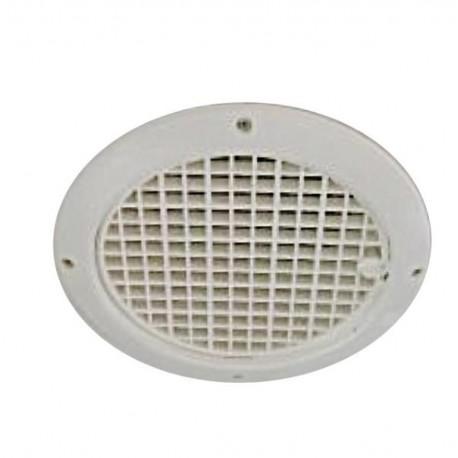 Grille d'aération ronde pour plafond - 12000mm² - diam. ext. 217mm couleur blanc