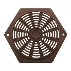 Aérateur plastique hexagonal - 60mm couleur marron