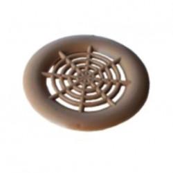 Grille d'aération plastique à encastrer - 38mm couleur marron