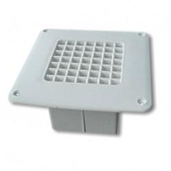 Grille d'aération plastique plancher - 2205mm² - buse 60mm - trou plancher 75x75mm couleur blanccouleur marron
