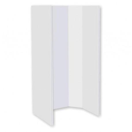 Cabine de douche à 4 côtés en angle gauche ou droit - 685x685x H.1830mm couleur blanc