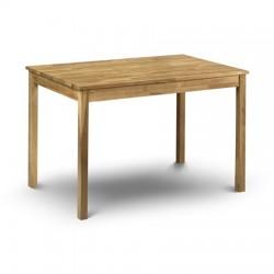 Table de salle à manger COXMOOR 118x75x75cm couleur chêne brillant