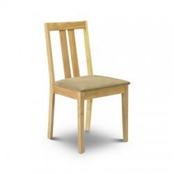 Chaises de salle à manger RUFFORD - assise beige - dim. 51x45x87cm