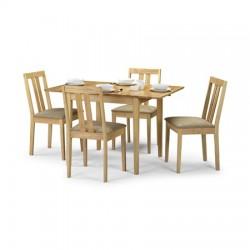 Table de salle à manger RUFFORD avec rallonges - dim. 80+40x80x75cm