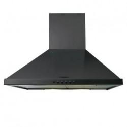 Hotte aspirante noire BELLING 3 vitesses, 2 lampes 40W, filtre à graisse lavable - dim. H.260x600mm profondeur 495mm