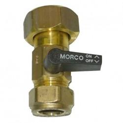 Robinet d'arrêt gaz chauffe eau MORCO G11