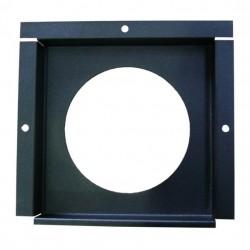 Plaque Slimtronic Supaslin pour évacuation arrière horizontale couleur noir