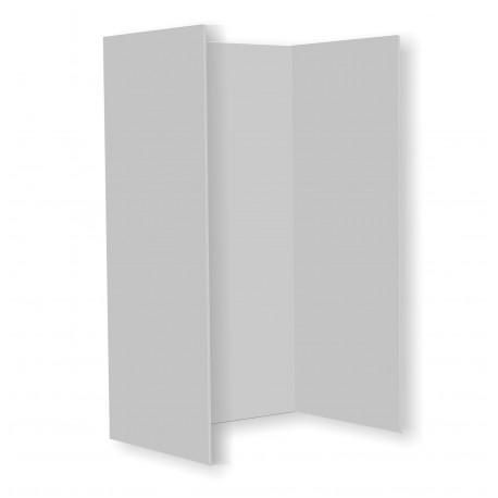 Cabine de douche à 3 côtés - 610x900x H.1830mm couleur blanc