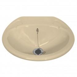 Lavabo encastré petit avec bonde - 435x380mm - couleur crême clair