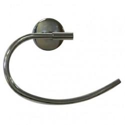 Porte serviette anneau ouvert chromé