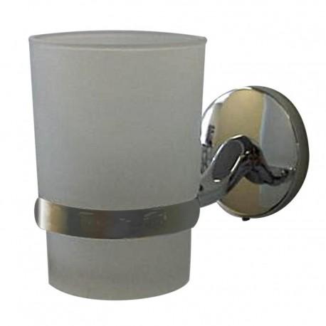 Porte gobelet en verre chromé