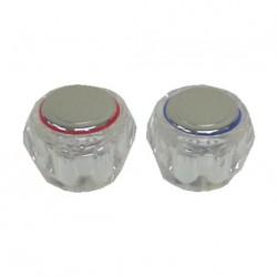 Têtes de robinet transparentes - chaud & froid