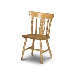 Chaise DUNDEE en pin couleur miel - dim. 53x47x86 cm