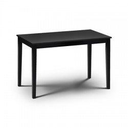 Table de salle à manger HUDSON style contemporain finition laquée noir