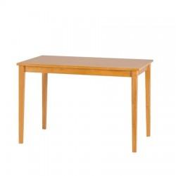 Table de salle à manger CLEO fabriqué en bois dur de Malaisie avec finition chêne clair