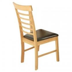 Chaise de salle à manger HANOVER assise marron - dim. 44x42x94cm
