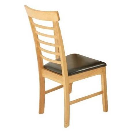 Chaise de salle manger hanover assise marron dim for Chaise salle a manger hauteur assise 50 cm