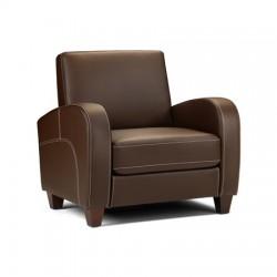Fauteuil VIVO faux cuir marron foncé - dim.87x79,5x83cm