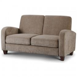 Canapé 2 places VIVO tissu chenille couleur vison