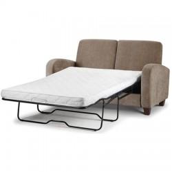 Canapé lit 2 places VIVO tissu chenille couleur vison - dim. 166x88x88cm