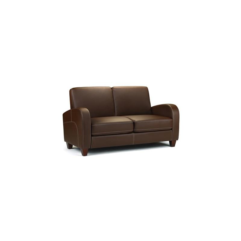 canap 2 places vivo faux cuir marron fonc amapola caravane mobil home. Black Bedroom Furniture Sets. Home Design Ideas