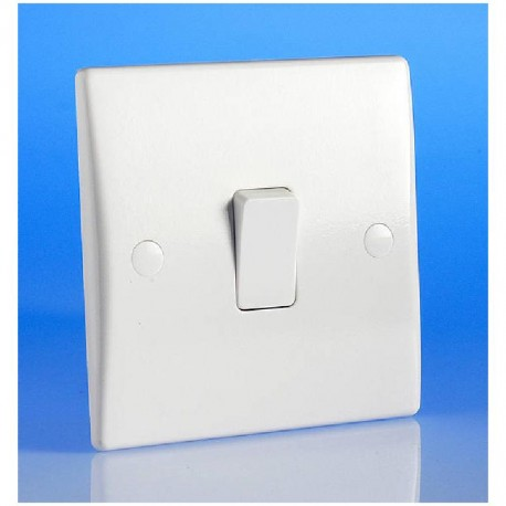 Interrupteur simple couleur blanc